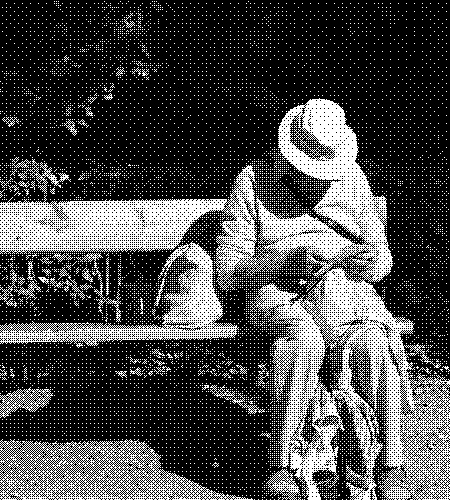 image of an older man on a bench